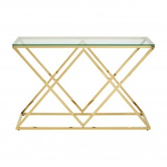Allure Console Table Inverted Triangle Gold