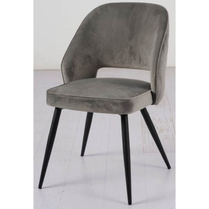 BA SUTA Velet Grey Chair