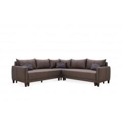 EH Smart L Corner Sofa Set with Sofabed