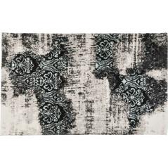 Kare Kelim Ornament Turquoise Carpet 200x140cm