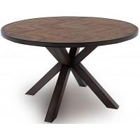 VL Va Industrial Round Dining Table - Light Brown 1300