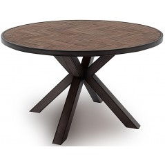 VL Va Industrial Round Dining Table - Light Brown 1300