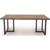 VL Va Industrial Dining Table Light Brown 1600