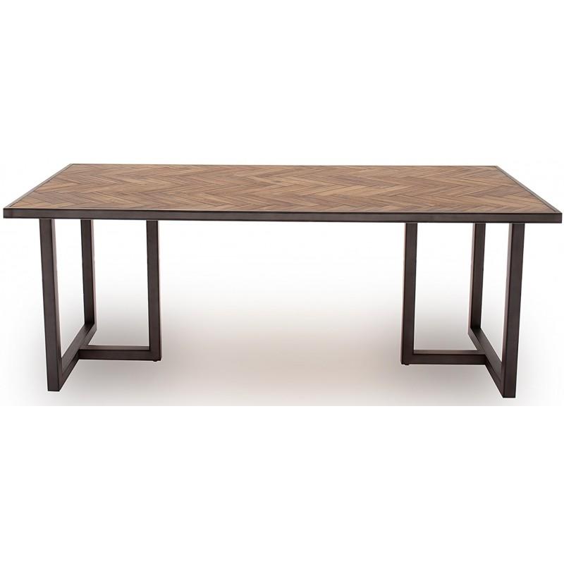 VL Va Industrial Dining Table Light Brown 1600