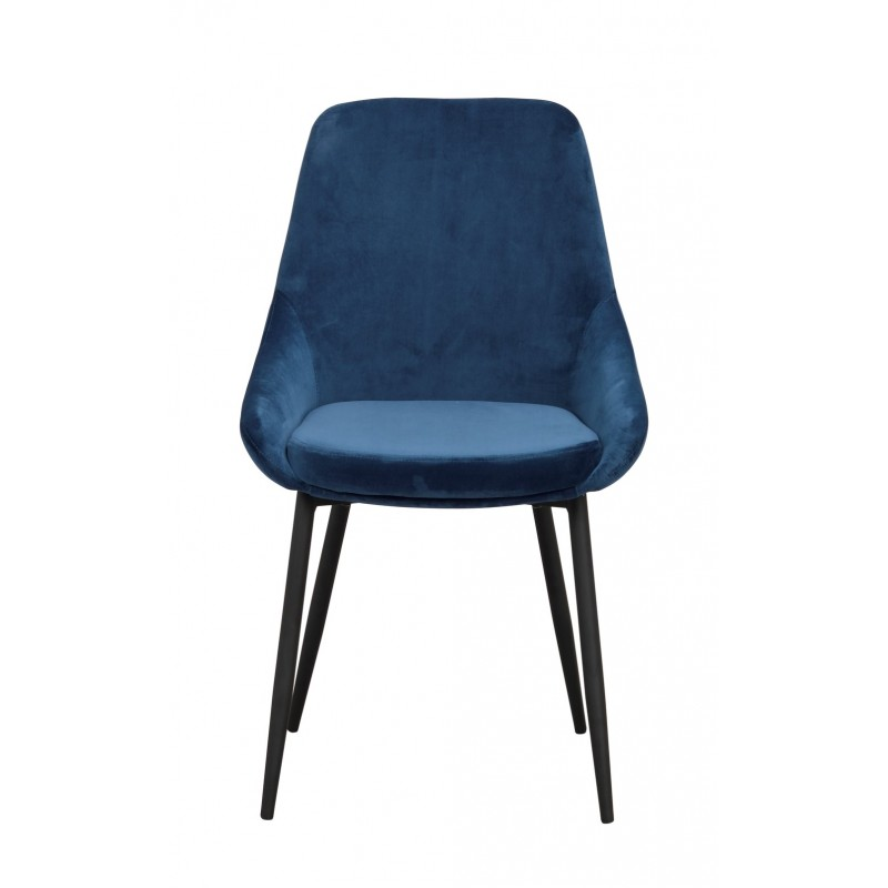 RO Sier Dining Chair Dark Blue Velvet