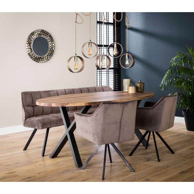 Zi 200 Daytona Oval Solid Wood Table
