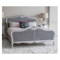 GA Chic 5' Cane Bed Silver