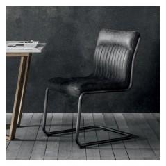 GA Capri Leather Chair Antique Ebony