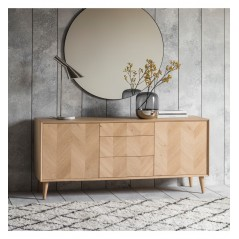 GA Milano 2 Door 3 Drawer Sideboard