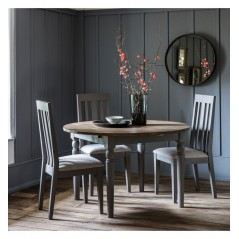 GA Cookham Round Extending Dining Table Grey