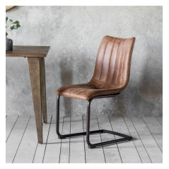 GA Edington Brown Chair (2pk)