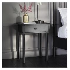 GA Wycombe 1 Drawer Bedside Black