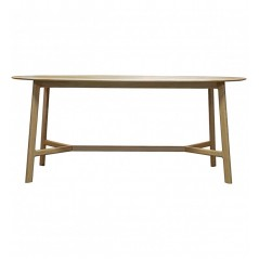 GA Madrid Oval Dining Table Oak