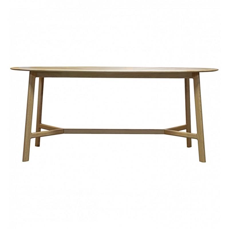 GA Madrid Oval Dining Table Oak