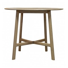 GA Madrid Round Dining Table Oak