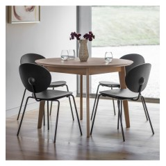 GA Forden Round Dining Table Grey