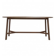 GA Madrid Oval Dining Table Walnut