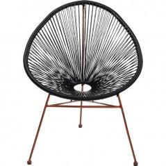 Arm Chair Spaghetti Rosegold Black