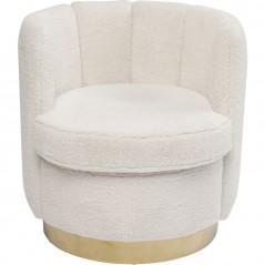 Armchair Silhouette Fur White
