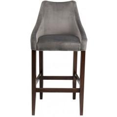 Bar Stool Mode Velvet Grey