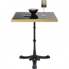 Bistro Table Kaffeehaus Rim Square Schwarz 60x60