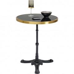 Bistro Table Kaffeehaus Rim Round Schwarz Ø 57
