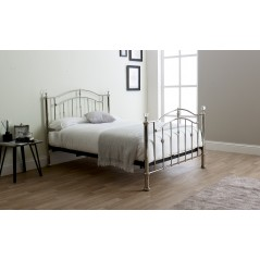 LL Callisto Chrome with Crystals 5ft Bed Frame