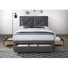 LL Cezanne Dark Grey 5ft Bed Frame