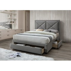 LL Cezanne Grey Marl 4ft6 Bed Frame