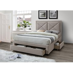 LL Cezanne Mink Velvet 5ft Bed Frame