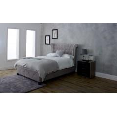 LL Epsilon Mink Velvet 5ft Ottoman Bed Frame