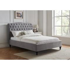 LL Rosa Light Grey 4ft6 Bed Frame