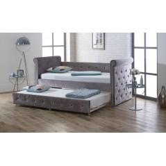 LL Zodiac Silver Velvet 3ft Day Bed