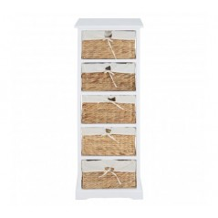 Ashby 5 Drawer Chest White