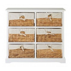 Ashby 6 Drawer Chest White