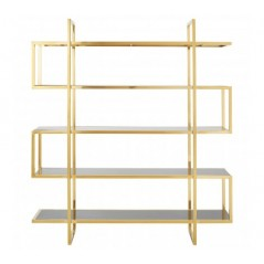 Horizon Bookshelf Maze Gold