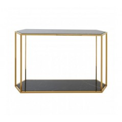 Piermount Console Table Hexagon Gold