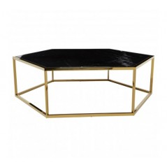 Piermount Coffee Table Hexagon Gold