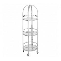 Piermount Kitchen Trolley Tall Silver
