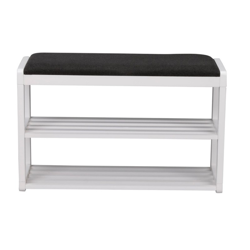 RO Met Shoe Rack Bench White