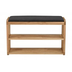 RO Met Shoe Rack Bench Oak