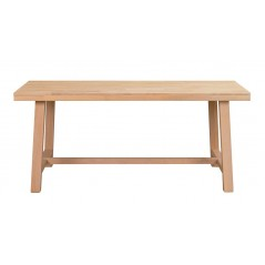 RO Brookl Extending Dining Table H Short Oak