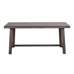 RO Brookl Extending Dining Table H Short Dark Brown