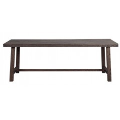 RO Brookl Extending Dining Table H Long Dark Brown