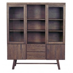 RO Brookl Display Cabinet Dark Brown
