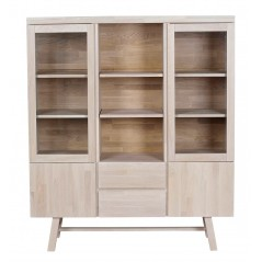 RO Brookl Display Cabinet White Pigmented