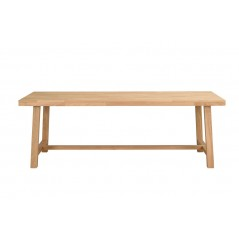 RO Brookl Extending Dining Table H Long Oak