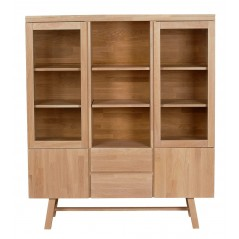 RO Brookl Display Cabinet Oak