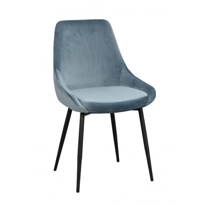 RO Sier Dining Chair Light Blue Velvet