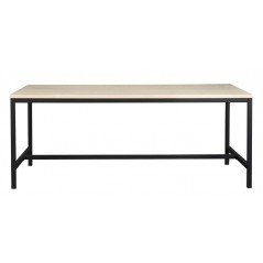 RO Evere Dining Table Short White Pigmented
